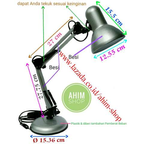 ShiGen SG-406 Lampu Meja Kerja, Arsitek, Belajar, Baca & Service (