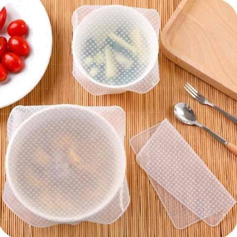 Silikon Sarung Bowl Cangkir Dish Sarung Silikon Regang Lids Menjaga Makanan Segar-Internasional 3