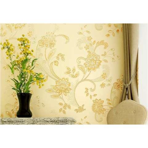 Sederhana Embossed Bunga Besar 3D Pedesaan Non-Wallpaper Woven Ungu Ruang Pernikahan Romantis Wallpaper Kamar Tidur Ruang Keluarga Hiasan Dinding Latar-Intl 3