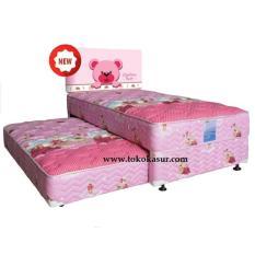 Spring Bed Quantum 2in1 3D Headboard Pink Uk.90x200 Komplit Set