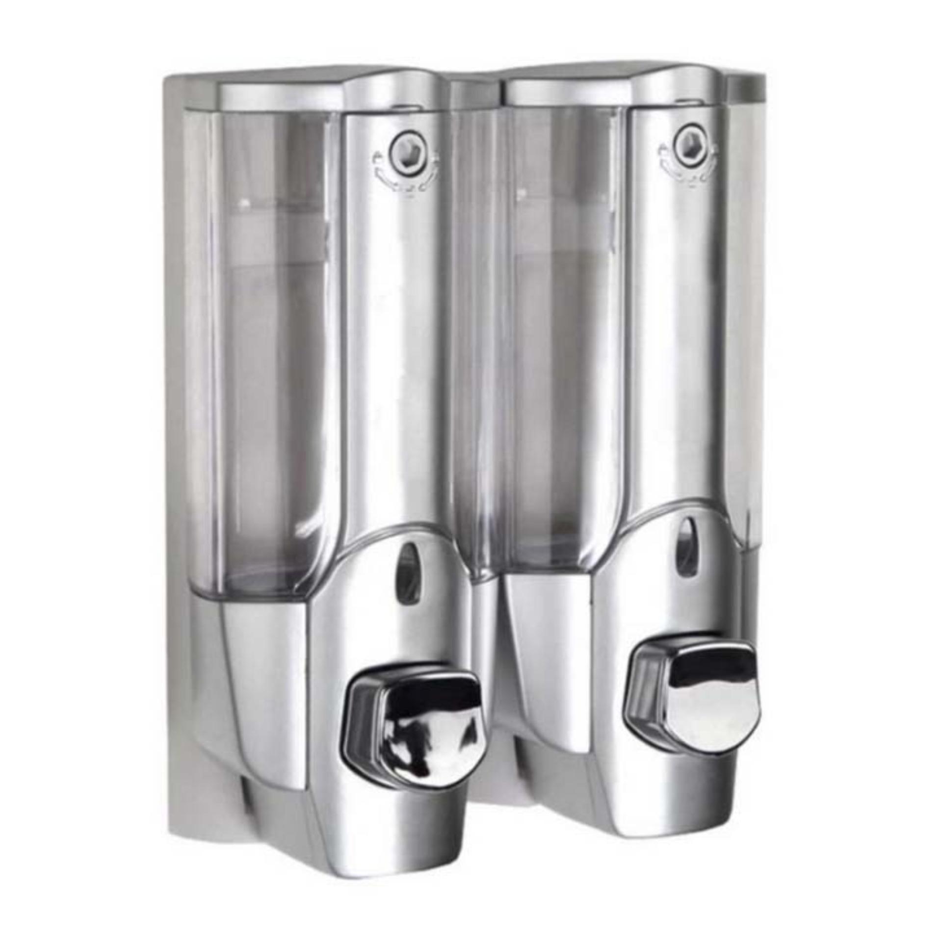 Menghias Kamar Mandi StarHome Dispenser Sabun Cair 2 in 1 with Key Lock - Tempat Sabun Cair 2 in
