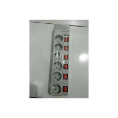 Stop Kontak 6 Lubang Dgn Saklar Masing2 Uticon ST1685 SN