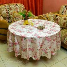 Taplak Meja Makan Bulat 6-8 Kursi 72 Inc Polyester