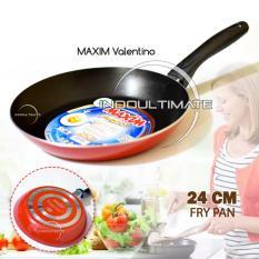 Teflon Maxim Anti Lengket/Frypan/Penggorengan Anti Lengket/NB HL FP-031 Maxim Valentino Frypan - Ukuran 24 cm -Red