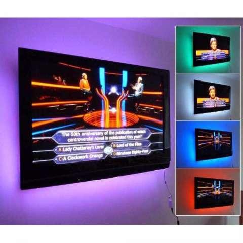 Teiton LED Light Strip RGB Waterproof 5050 90cm dengan Kontroler USB 5V Lampu Fleksible Hias Ruangan Casing Komputer Meja Kerja Dekorasi Rumah Ruang Tamu Kamar Tidur Hiasan Bangunan Taman Pohon Outdoor Colorful Cahaya Penerangan Modern Lamp Anti Air 2