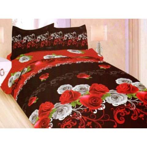 Terbaru Sprei Bonita Red Wine No.2 Queen 160 Seprai Rose Mawar Merah