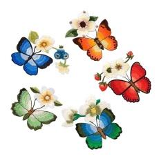 Kupu-kupu Kain Pasta Wanita Bordir Aksesoris Lem Belakang Patch Pasta Tari Nasional Pakaian Dekorasi Pasta- INTL