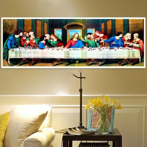 Perjamuan Terakhir 5D Diamond DIY Lukisan Kerajinan Dekorasi Rumah-Internasional 3
