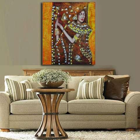 Yang Paling Terkenal Ruang Keluarga Lukisan Abstrak Seni Lukisan Dinding untuk Ide Dekorasi Rumah Cetak Pada Kanvas Lukisan Minyak-Intl 1