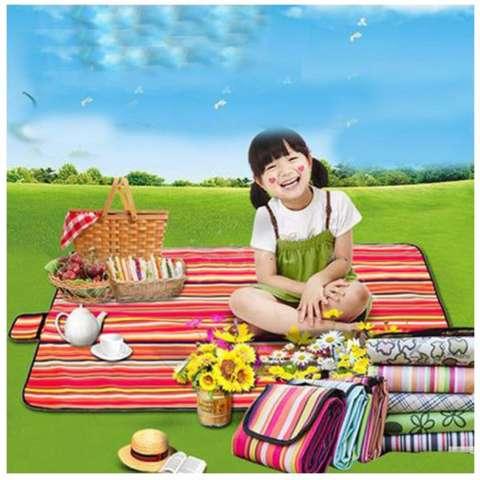 Tikar Plastik Lipat Waterproof Karpet Piknik Kemping Tamasya Bermain Rekreasi Arisan Pengajian Umroh Haji A10