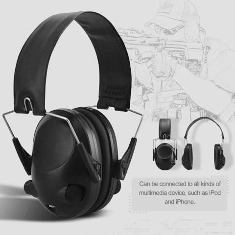 Atas TAC 6 S Anti-Noise Tembak Taktis Headset Sport Alat Penutup Telinga Berburu Headphone