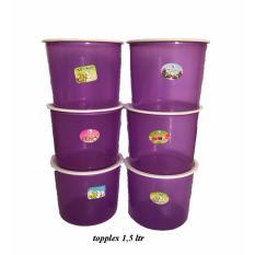 PADIE - TOPLES Plastik Bulat isi 12 pcs ukuran 1.5 liter / toples makanan/toples kue/camilan/snack/tempat serbaguna/tempat kue dan makanan/kotak kue dan makanan