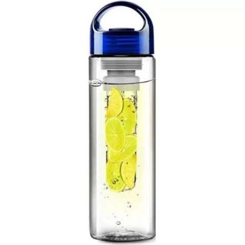 Tritan Water Bottle With Fruit Infuser - Blue