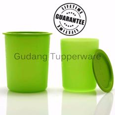Tupperware Green Canister set (2)