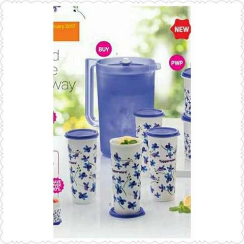 Teko & Gelas Tupperware Spring Garden Serving Set
