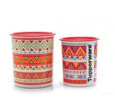 Tupperware Zig Zag Canister - Orange