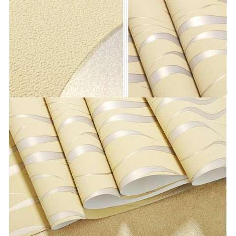 TV Latar Belakang Wallpaper 3D Non-woven Dinding Seni Modern Sederhana Solid Warna Wave Wallpaper DIY Ramah Lingkungan Wallpaper Wall Sticker untuk Dekorasi Rumah-Internasional 2