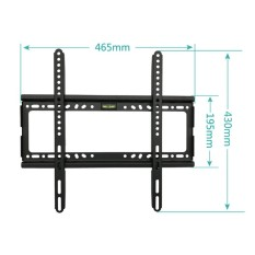 TV Wall Mount Bracket untuk TV LCD 26-55 Inch LED, LCD dan TV Plasma, Hingga VESA 400x400mm dan 100 LB/50 Kg Loading Capacity, Low Profile-Intl