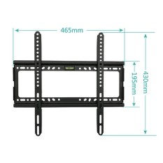 TV Wall Mount Bracket for Most 26-55 Inch LED, LCD and Plasma TVs, Up to VESA 400 x 400mm and 100 LB/50 KG Loading Capacity, Low Profile - intl