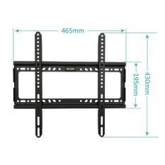 TV Wall Mount Bracket untuk TV LCD 26-55 Inch LED, LCD dan TV Plasma, Hingga VESA 400x400mm dan 100 LB/50 Kg Loading Capacity, Low Profile-Intl
