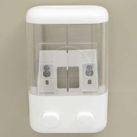 Ultimate Dispenser Sabun Shampo 2in1 Untuk Kamar mandi / Dapur / Tempat Sabun cair 2 Tabung DP 60-01 - White