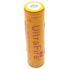 UltraFire Rechargeable Battery 3.7V 6000mAh with Button Top - BRC 18650