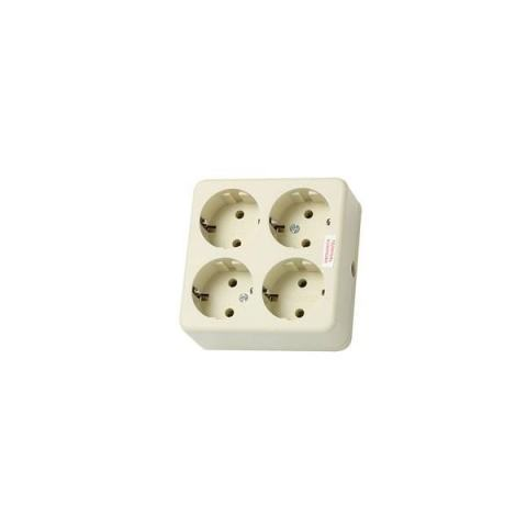 UTICON Stop Kontak 4Lubang Arde Kotak - Multi Outlet ST148S