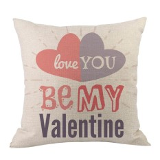 Valentine's Day Fashion Throw Pillow Cases Cafe Sofa Cushion Cover Home Decor - intl