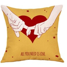 Valentine 'S Day Modis Throw Case Cafe Sofa Sarung Bantal Dekorasi Rumah-Internasional