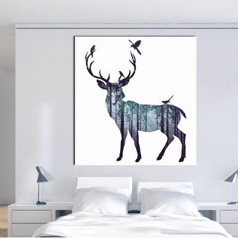 VORSTEK Baru Yang Kreatif dengan Berbagai Warna, Lukisan Cat Minyak Berbentuk Persegi untuk Dekorasi Dinding Lukisan-Internasional 1