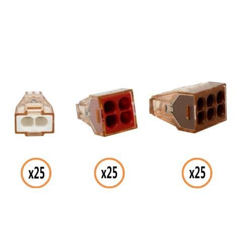 Wago 773-602 (25) 773-604 (25) 773-606 (25) mendorong Kawat Dinding Bermacam-macam Kacang Pack-Intl 1