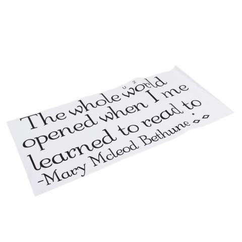 Stiker Tembok Seni Vinil Stiker Set Sulam Gambar Anak Membaca Buku Sekolah Kelas Cerita Waktu G010 (Intl) 1