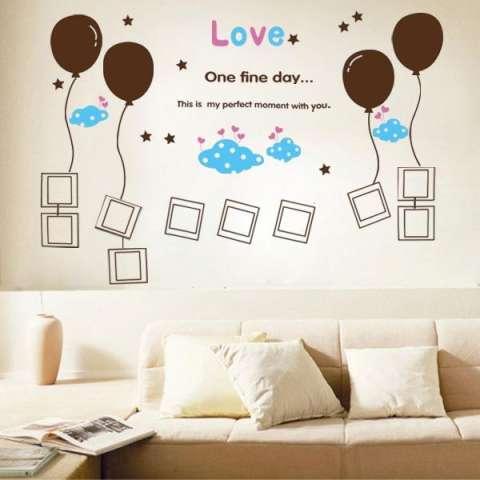 Wall Sticker XY1020 Brown Baloon & Frame Stiker dinding Untuk Dekorasi Kamar Anak - Sticker Dinding Murah Penghias Dinding Rumah Wallpaper Dinding Lucu - Warna Random 4