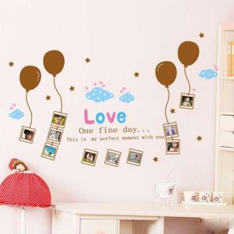 Wall Sticker XY1020 Brown Baloon & Frame Stiker dinding Untuk Dekorasi Kamar Anak - Sticker Dinding Murah Penghias Dinding Rumah Wallpaper Dinding Lucu - Warna Random 1