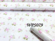 WALLPAPER DINDING 45CMX5M- WPS079-WHITE N LITTLE FLOWER GOLD TEX