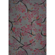 Wallpaper Dinding Lokal Sakura Magenta- Sticker- Dinding 3D- Dinding Kamar Tidur- Dinding Murah