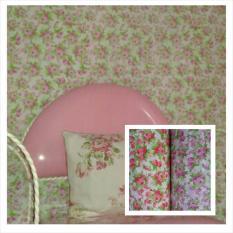 Wallpaper Dinding Painting Pink- Dinding Kamar Tidur- Dinding Murah- Rumah