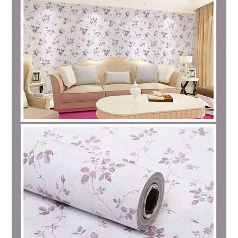 Wallpaper Sticker Bunga Wallpaper Dinding F045