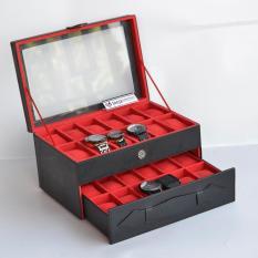 Watch Box Organizer - Kotak Tempat Jam Tangan Susun Isi 24