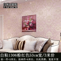 Waterproof Self-adhesive Menebal Dinding Stiker PVC Asrama Kamar Tidur Wallpaper Ruang Tamu TV 3D Dekoratif Wallpaper (53 CM X 3 Meters) -Intl