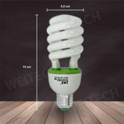 Home; WEITECH Lampu Hemat Energi Spiral 3 pcs 35W Putih