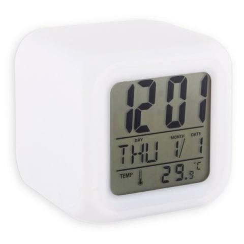 Harga Jual Yangunik Jam Meja Dan Weker Kubus Berubah Warna Digital Clock Alarm Putih Harga Rp