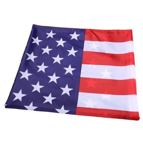 Yika 3X5.2 Ft Garis Bintang Kuningan Grommet Bendera Amerika AS (Aneka Warna) 1