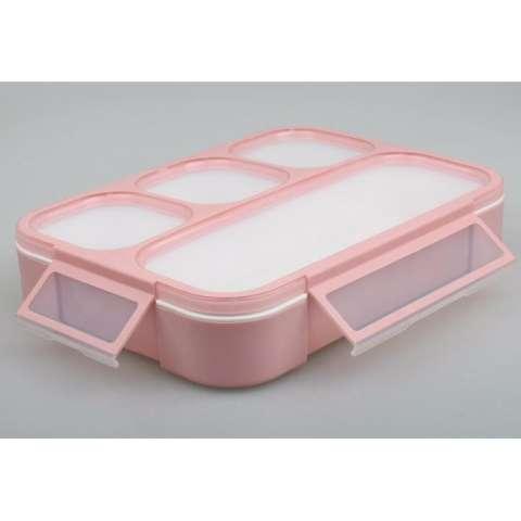 Jual Yooyee Leak Proof Grid Lunch Box Sekat 4 Kotak Makan Anti Tumpah 578 Pink Harga Rp 48.900