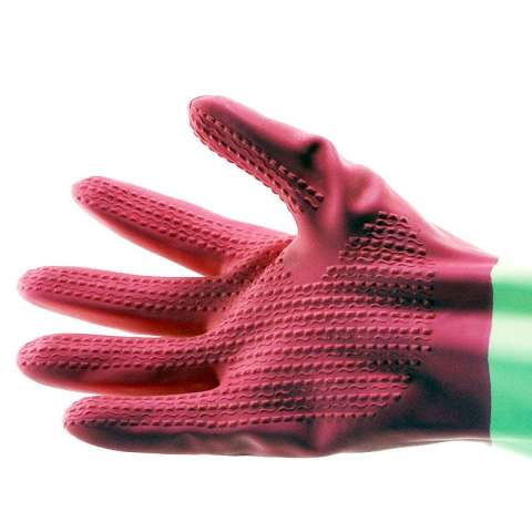 YOUNG YOUNG Latex Gloves IL SARUNG TANGAN DCOLOR 8.5INCH Karet Rubber - Pink