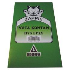 MURAH - 12 buku Nota Kontan HVS 1 Ply 1/4 Folio Hijau INDOPAPER
