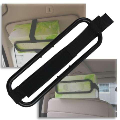 Zhuoda Mobil Kreatif Sun Visor Seat Back Jaringan Elastis Serbet Kertas Box Holder-Intl 1