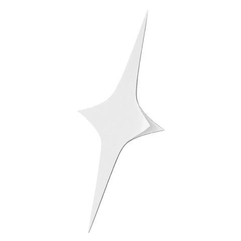 Zuncle Sarung Tangan Yang Dapat Dilepas Seni Dinding Modern Dekorasi Rumah Bintang Perak 3D Stiker Cermin Akrilik (Perak) 3