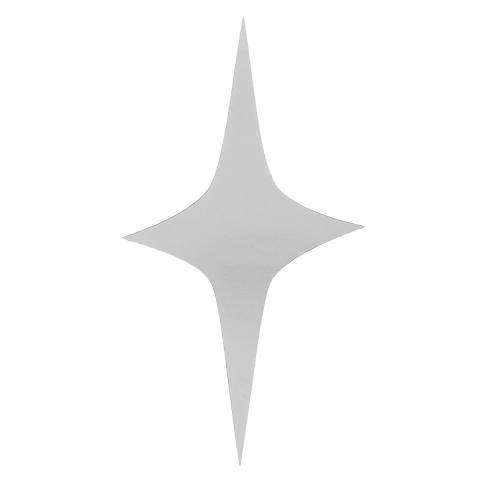 Zuncle Sarung Tangan Yang Dapat Dilepas Seni Dinding Modern Dekorasi Rumah Bintang Perak 3D Stiker Cermin Akrilik (Perak) 2