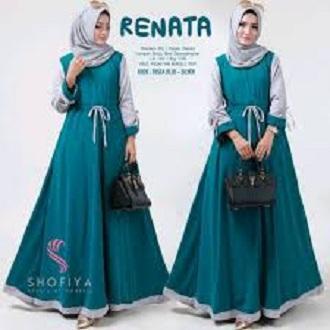 Baju Original Renata Dress Balotelly Gamis Panjang Hijab Casual Pakaian  Wanita Terbaru Tahun 2019 d1ea2351c2